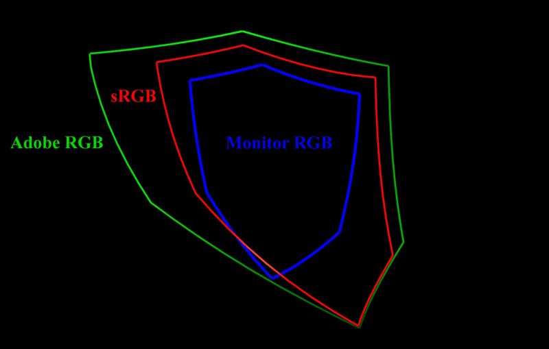 Figure 2. RGB Color Gamuts