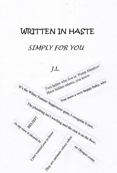 Haga clic para obtener una vista previa WRITTEN IN HASTE SIMPLY FOR YOU J.L. libro de bolsillo y comercial