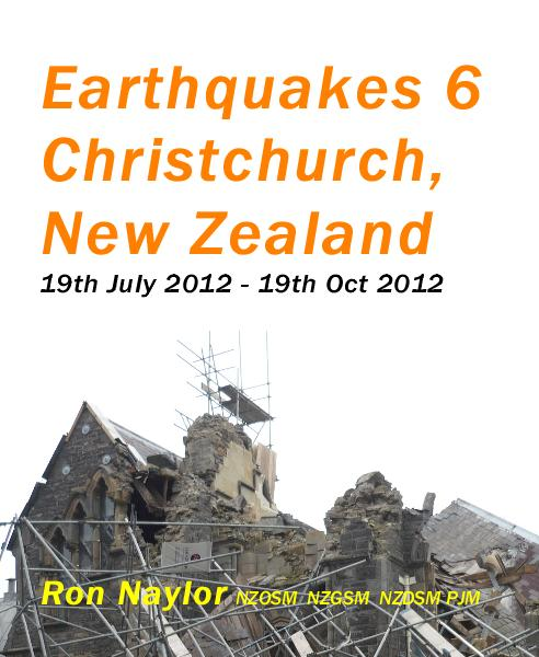 Ver Earthquakes 6 Christchurch, New Zealand 19th July 2012 - 19th Oct 2012 por Ron Naylor NZOSM NZGSM NZDSM PJM