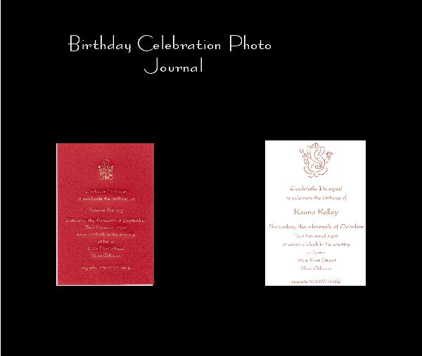 View Birthday Celebration Photo Journal by With love Johnny, Ann and Bayard Watts