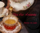 Tea for Amanda - photo book