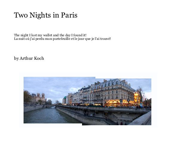 Click to preview Two Nights in Paris (Hardcover, w/Dust Jacket) photo book