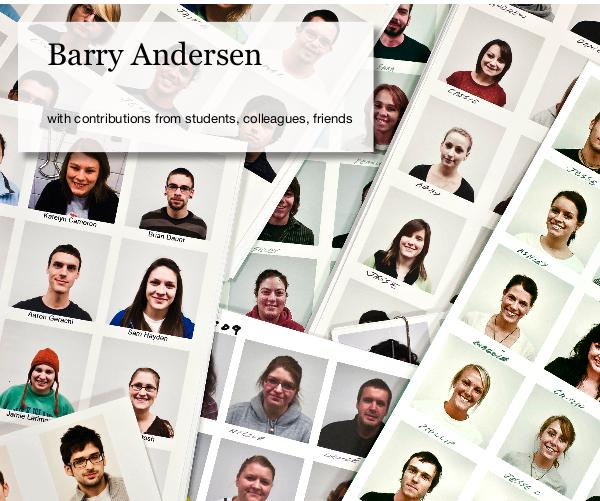 Click to preview Barry Andersen photo book