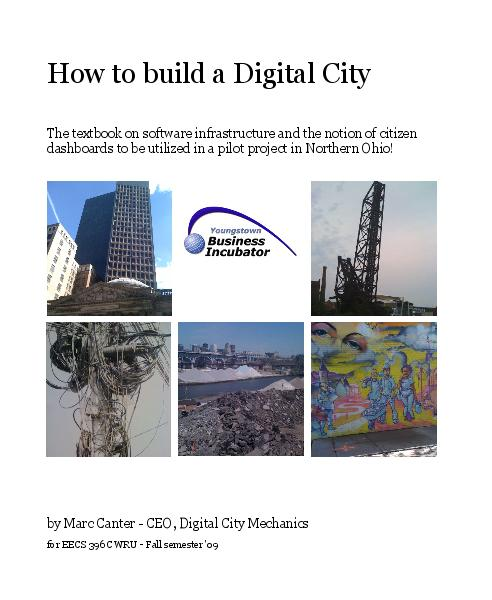 View How to build a Digital City by Marc Canter - CEO, Digital City Mechanics for EECS 396 CWRU - Fall semester '09